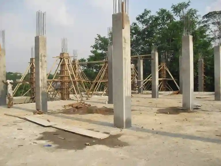 persiapan struktur panel lantai kolom