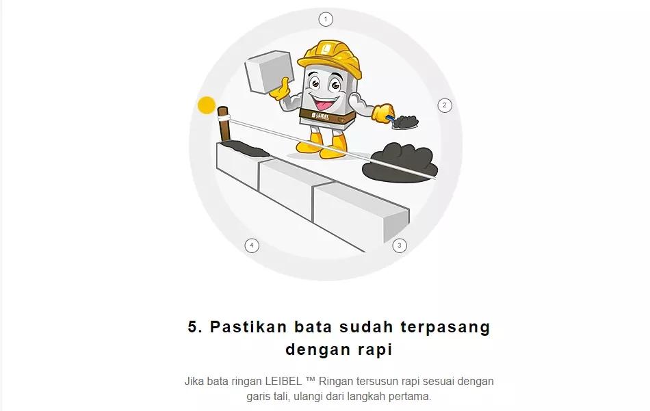 cara pemasangan bata ringan leibel5